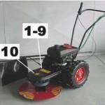 dakr žací stroj sekačka RZS 69 bezpečnostní značení