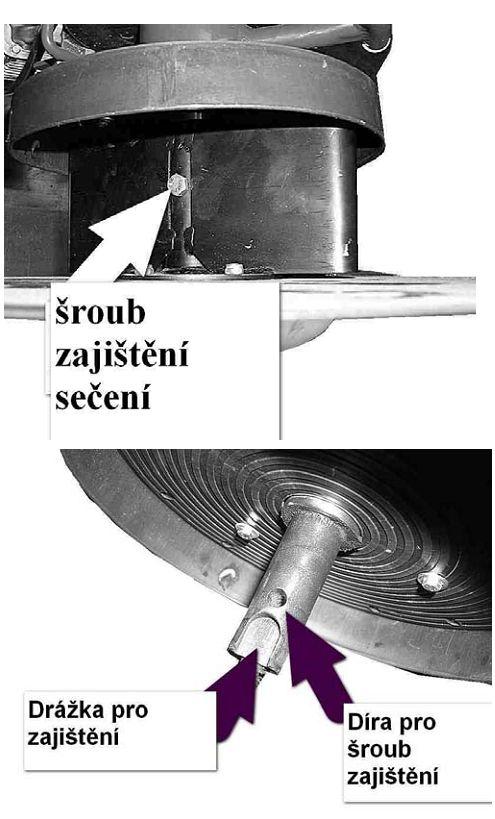 dakr žací stroj sekačka RZS 69 šroub zajištění sečení