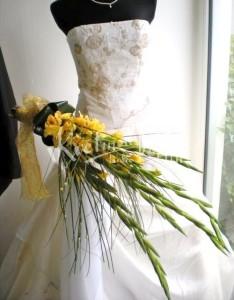 svatebni květina z gladiolů