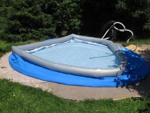 napouštění nadzemního bazénu