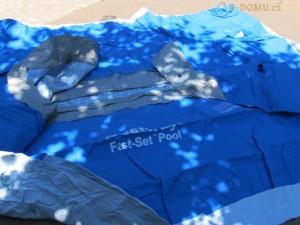 složený bazén po koupací sezoně