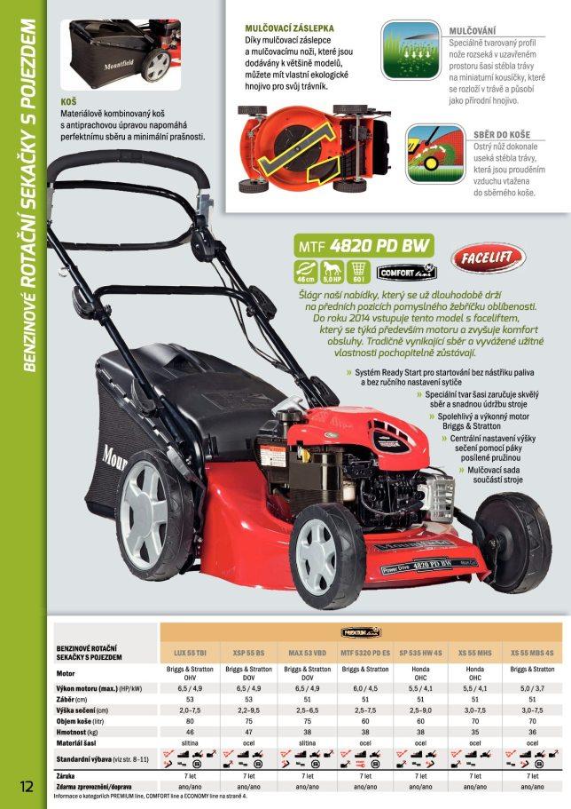 Katalog strojů sekaček, traktorů Mountfield 2014
