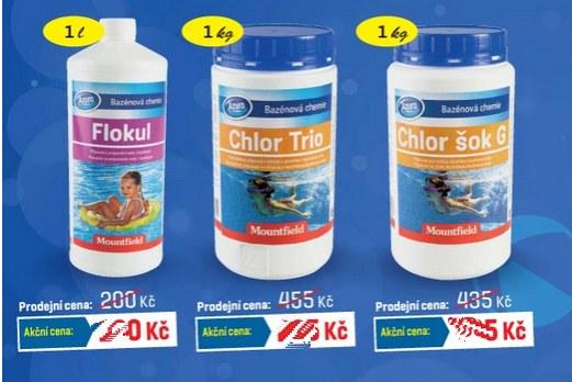 bazénová chemie - chlor sleva
