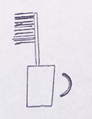 Obrázek  Zubní kartáček a hrneček