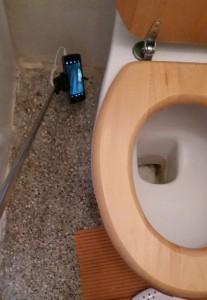 selfie tyč WC